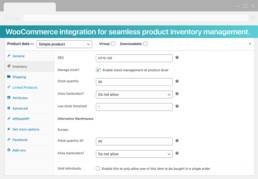 Venby wordpress woocommerce warehouses pro plugin screen4
